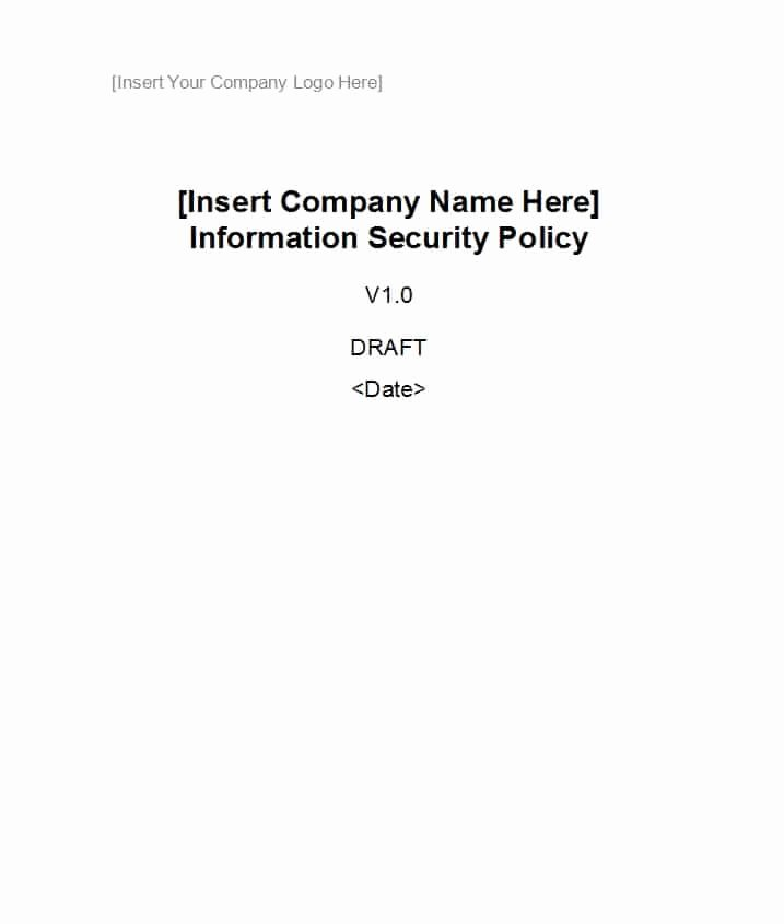 Information Security Policies Templates Elegant 42 Information Security Policy Templates [cyber Security