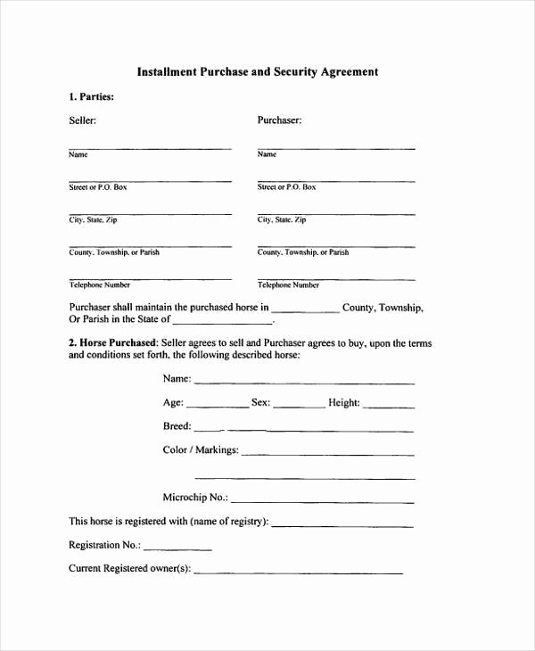 Installment Payment Contract Template Awesome Free 8 Installment Agreement Sample forms In Sample
