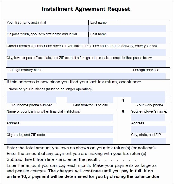 Installment Payment Contract Template Elegant Free 5 Sample Installment Agreement Templates In Pdf