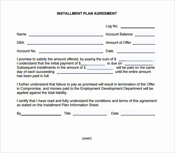 Installment Payment Contract Template Elegant Payment Plan Agreement Template – 21 Free Word Pdf