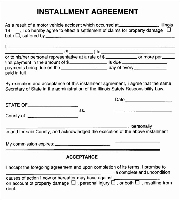 Installment Payment Contract Template Inspirational Free 5 Sample Installment Agreement Templates In Pdf
