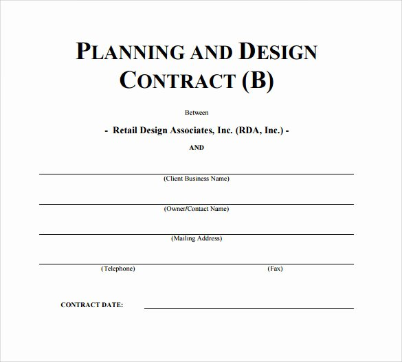 Interior Design Contract Template Best Of Interior Design Contract Template 12 Download Documents