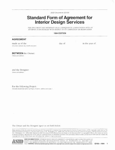 Interior Design Contracts Templates Awesome 8 Interior Designer Contract Templates Google Docs Ms