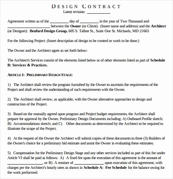 Interior Design Contracts Templates Awesome Sample Interior Design Proposal Template 16 Free