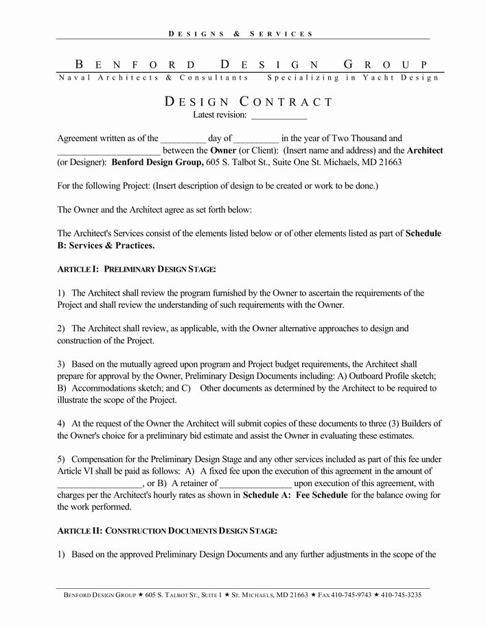 Interior Design Contracts Templates Fresh Download Basic Interior Designer Contract Template Pdf