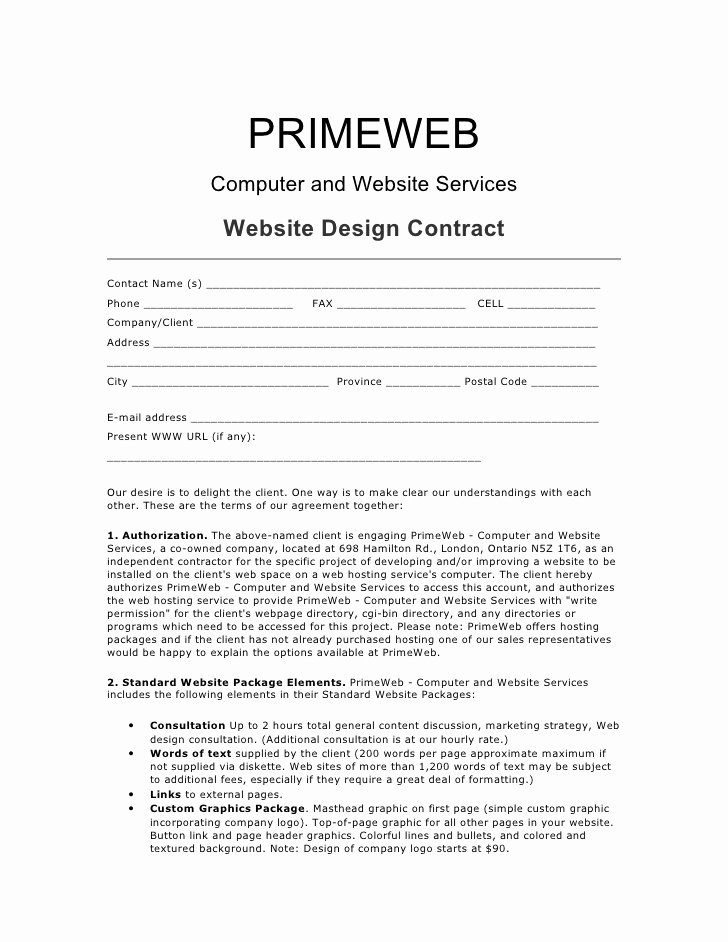 Interior Design Contracts Templates Unique Web Design Contract