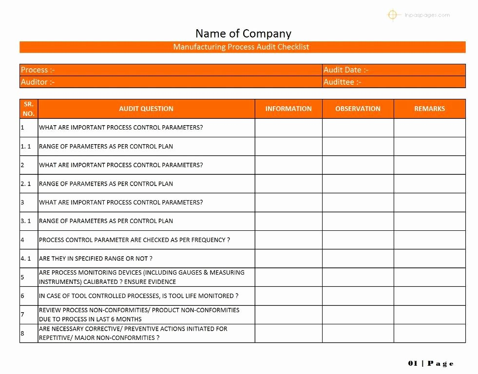 Internal Audit Checklist Template Best Of 35 Excellent Audit Report form Template Examples Thogati