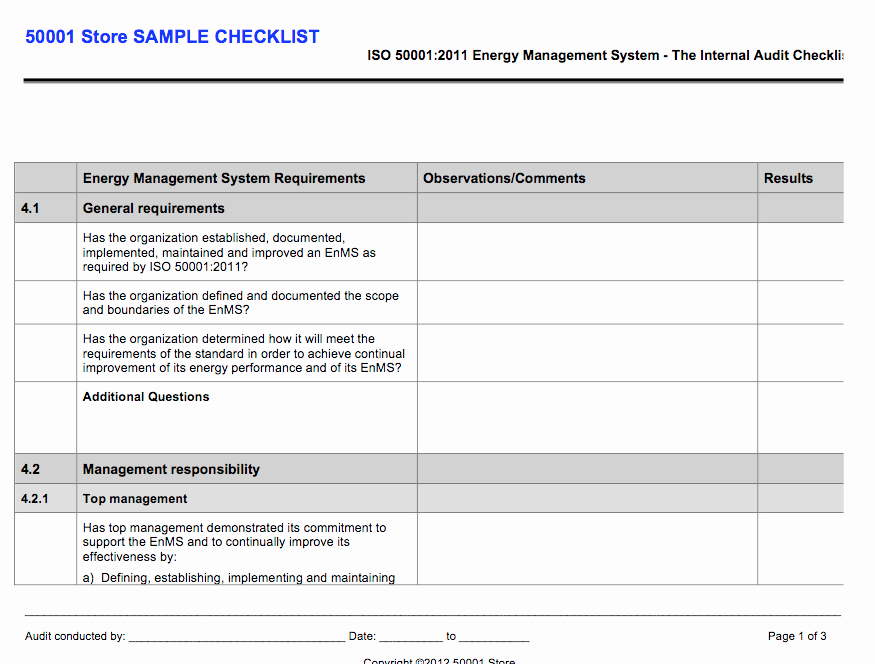 Internal Audit Programme Template Lovely iso Internal Auditor Checklist Store
