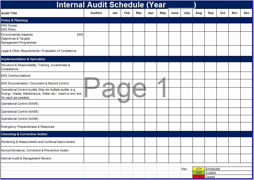 Internal Audit Programme Template Unique 8 Free Sample Audit Schedule Templates Printable Samples