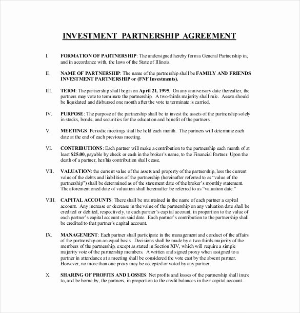 Investment Agreement Template Doc Beautiful 19 Investment Agreement Templates – Free Sample Example