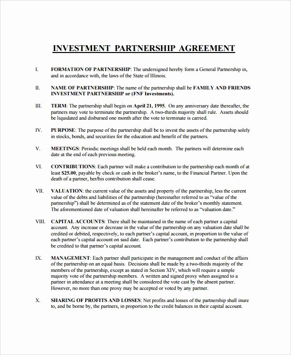 Investment Agreement Template Doc Best Of Sample Business Investment Agreement 15 Documents In