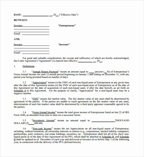 Investment Agreement Template Doc Elegant Investment Contract Template 18 Download Documents In