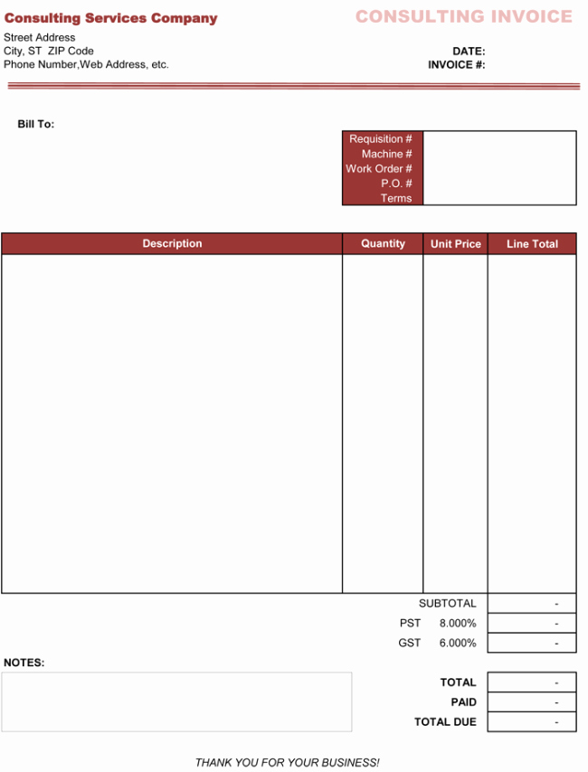 Invoice Template for Consulting Services Beautiful 3 Consulting Invoice Templates to Make Quick Invoices
