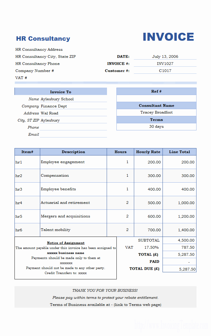 Invoice Template for Consulting Services Inspirational Free Invoice Template for Hours Worked 20 Results Found