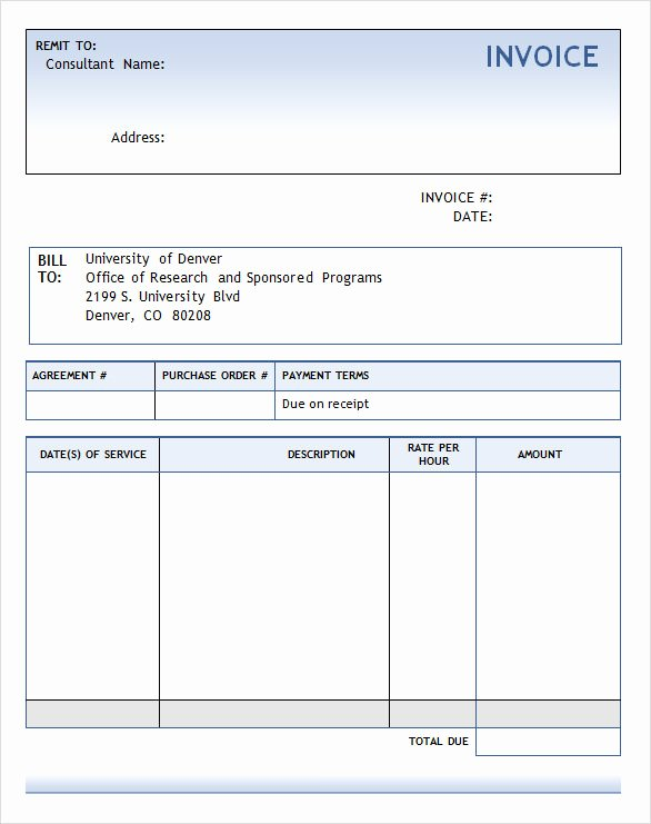 Invoice Template for Consulting Services Luxury Consulting Invoice Template Word