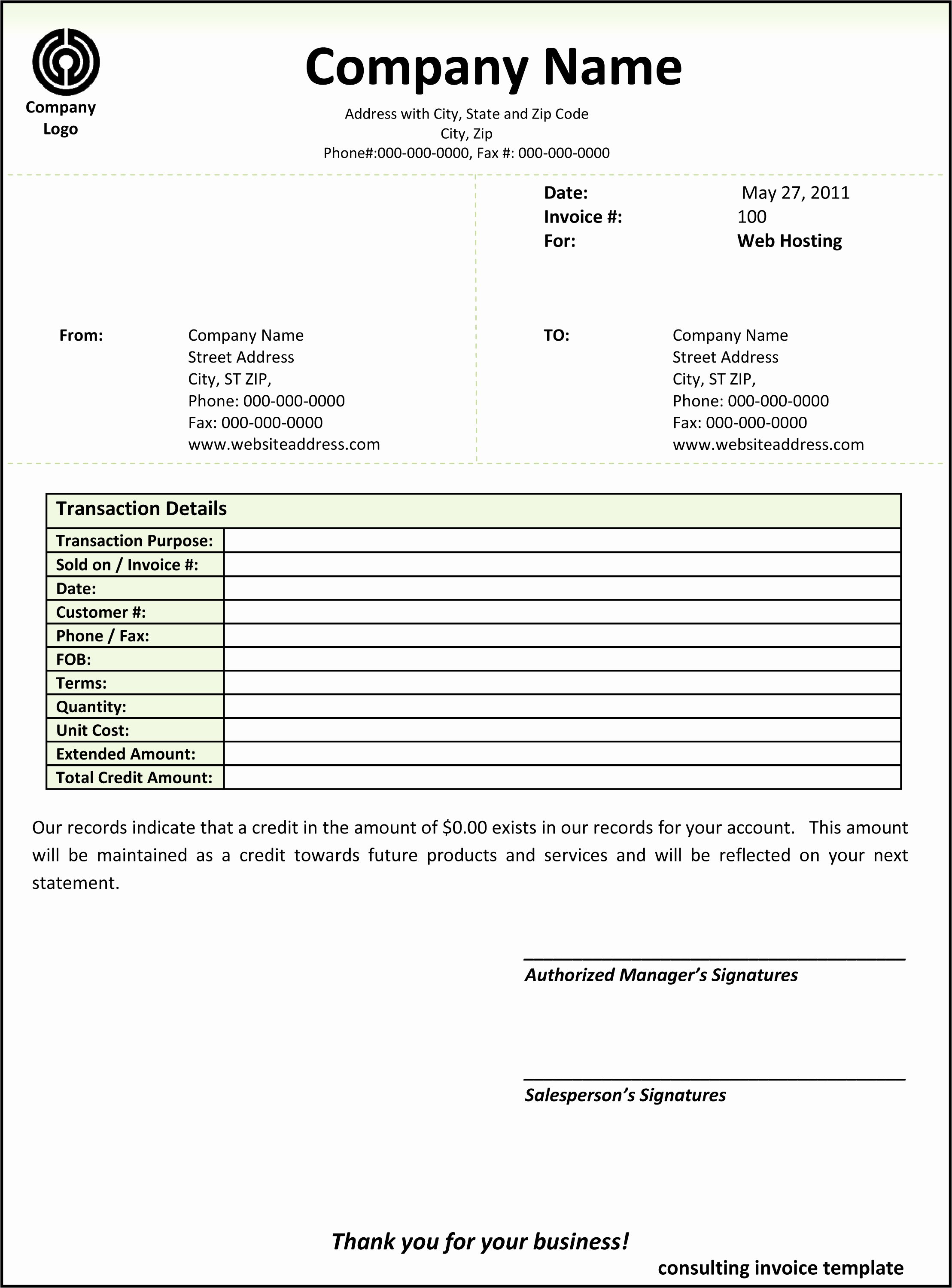 Invoice Template for Consulting Services New Consulting Invoice Template Word