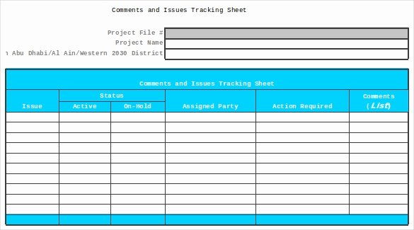 Issue Log Template Excel Beautiful Defect Log Templates