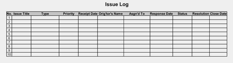Issue Log Template Excel Best Of issue Tracking & issue Log Templates Pdf Excel Word