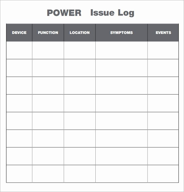 Issue Log Template Excel Elegant Free 6 Free issue Log Samples In Pdf