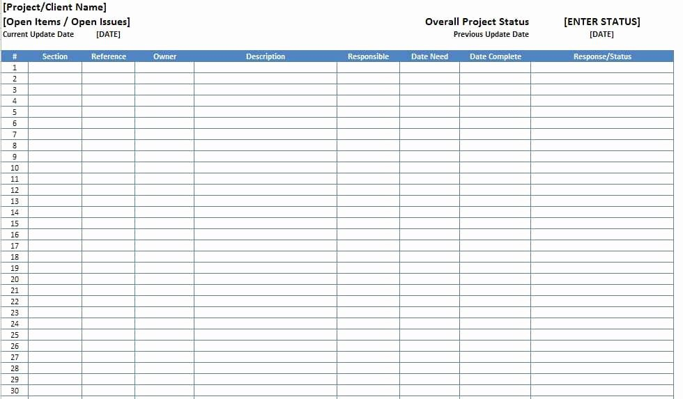 Issue Log Template Excel Elegant top 5 Resources to Get Free Project Log Templates Word