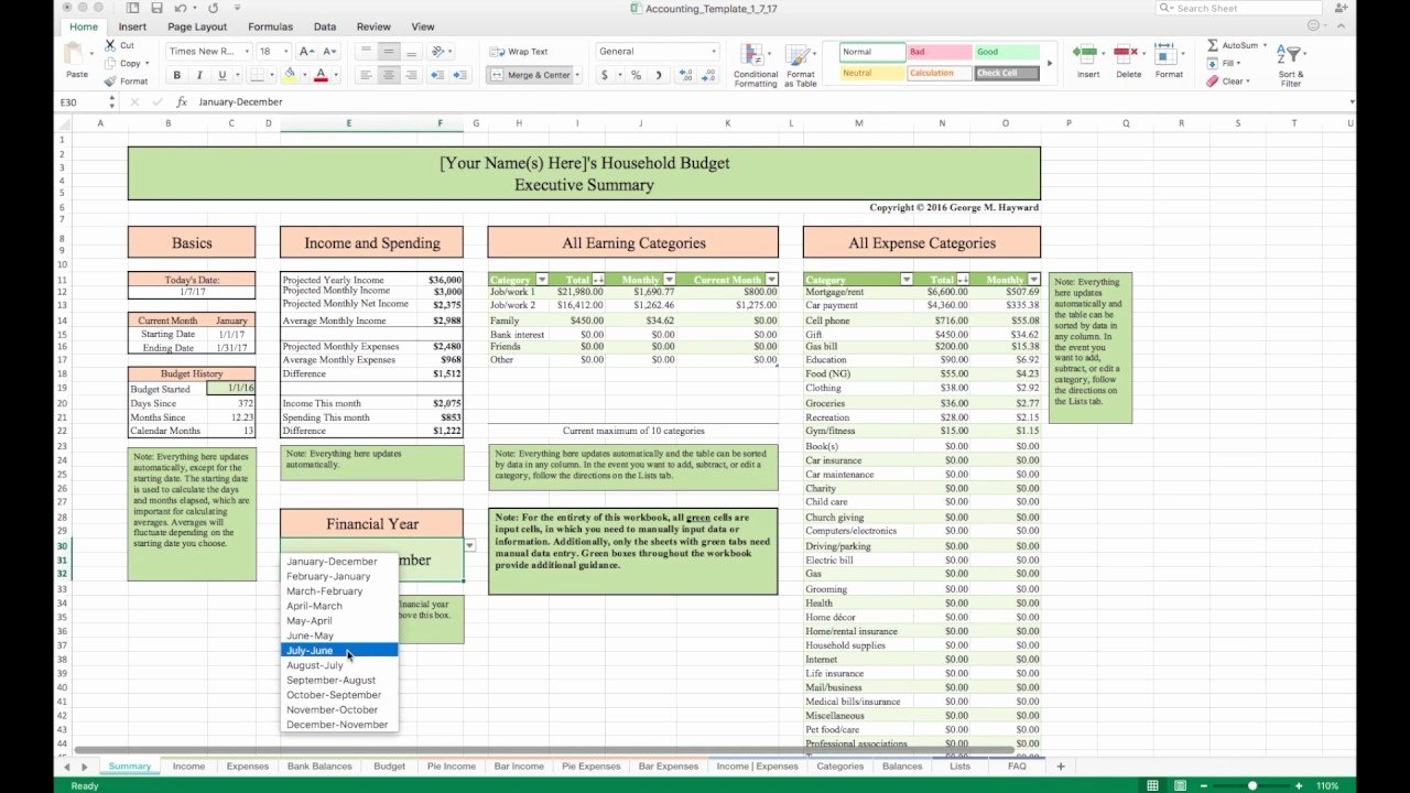 It Budget Template Excel Fresh Household Bud Template and Tutorial Excel