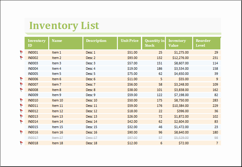 It Inventory Excel Template Awesome Inventory Worksheet Template for Excel