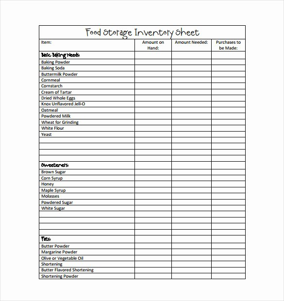 It Inventory Excel Template Lovely Food Inventory Template In Ms Excel format Excel Template