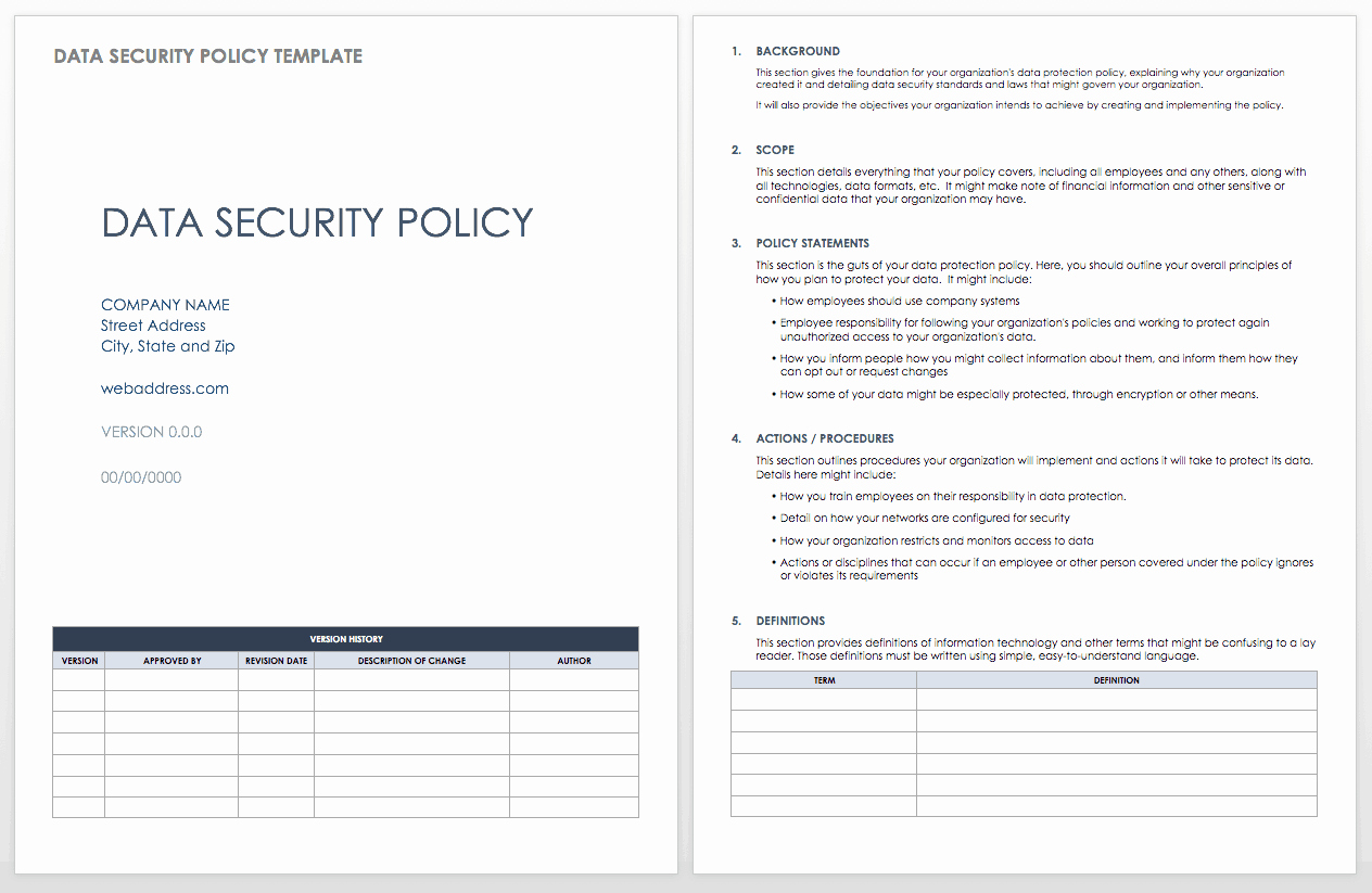 It Security Policy Template Best Of Data Security How to Keep Your Data Safe