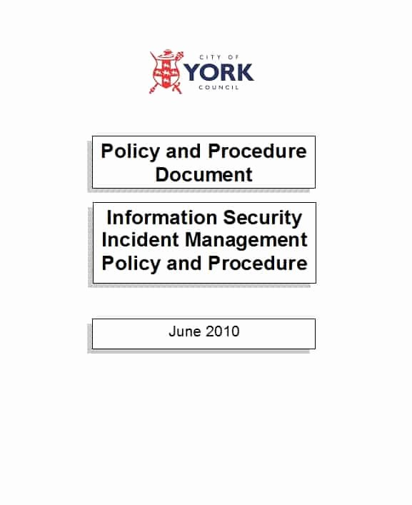 It Security Policy Template Unique 42 Information Security Policy Templates [cyber Security