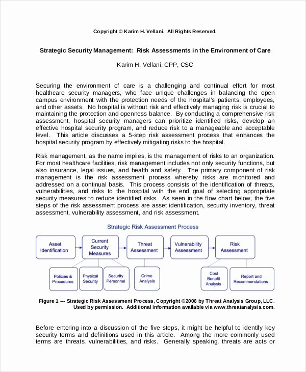 It Security Risk assessment Template Awesome 10 Security Risk assessment Templates Free Samples