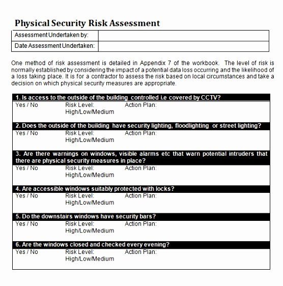 It Security Risk assessment Template Elegant 12 Security Risk Analysis Meaningful Use Template Ueeat