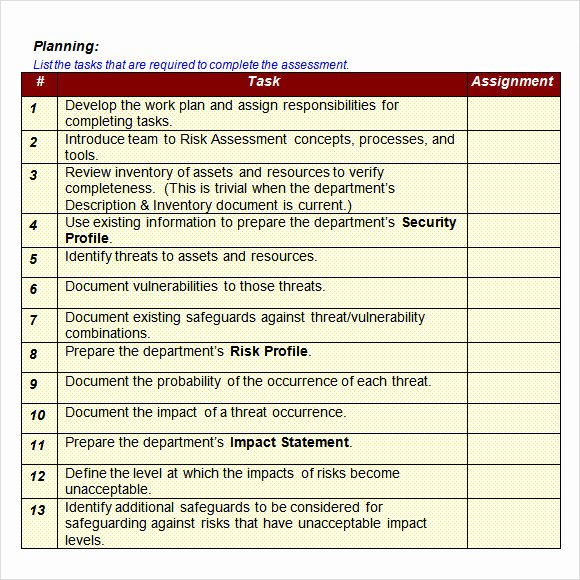 It Security Risk assessment Template Inspirational Free 11 Sample It Risk assessment Templates In Pdf