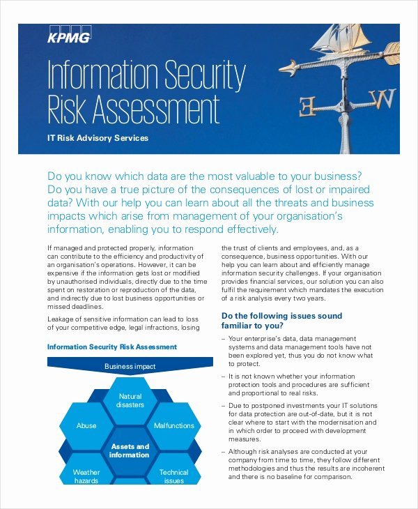 It Security Risk assessment Template New 10 Security Risk assessment Templates Free Samples