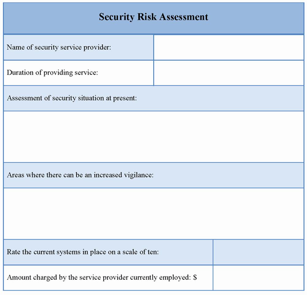 It Security Risk assessment Template Unique assessment Template for Security Risk Example Of Security