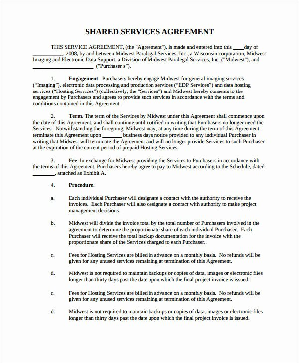 It Support Contract Template Awesome 21 Simple Service Agreements Word Pdf