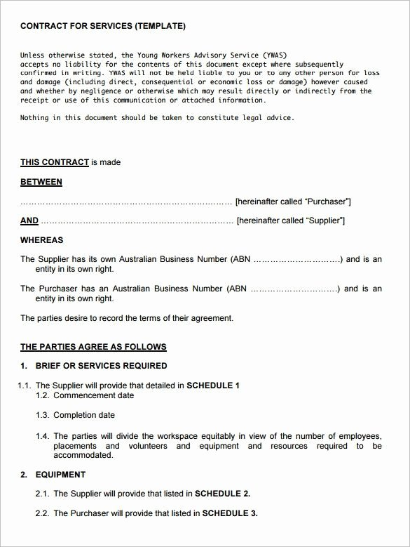 It Support Contract Template Best Of Service Contract Template 8 Free Word Pdf Documents