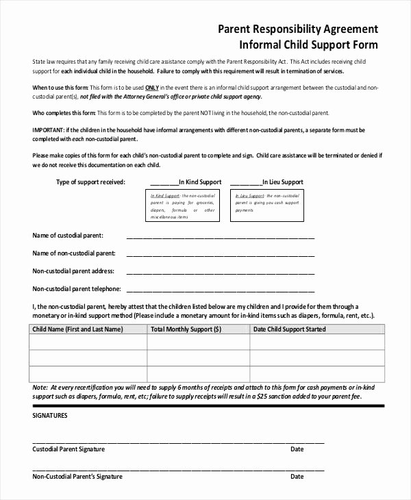 It Support Contract Template Inspirational 30 Child Support Agreement Template