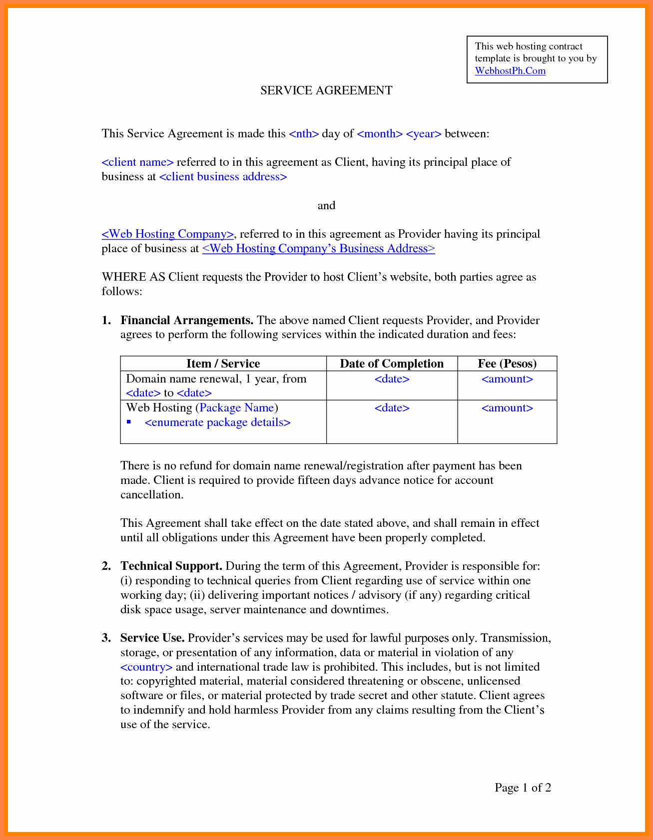 It Support Contract Template Inspirational 8 It Services Agreement Contract Template
