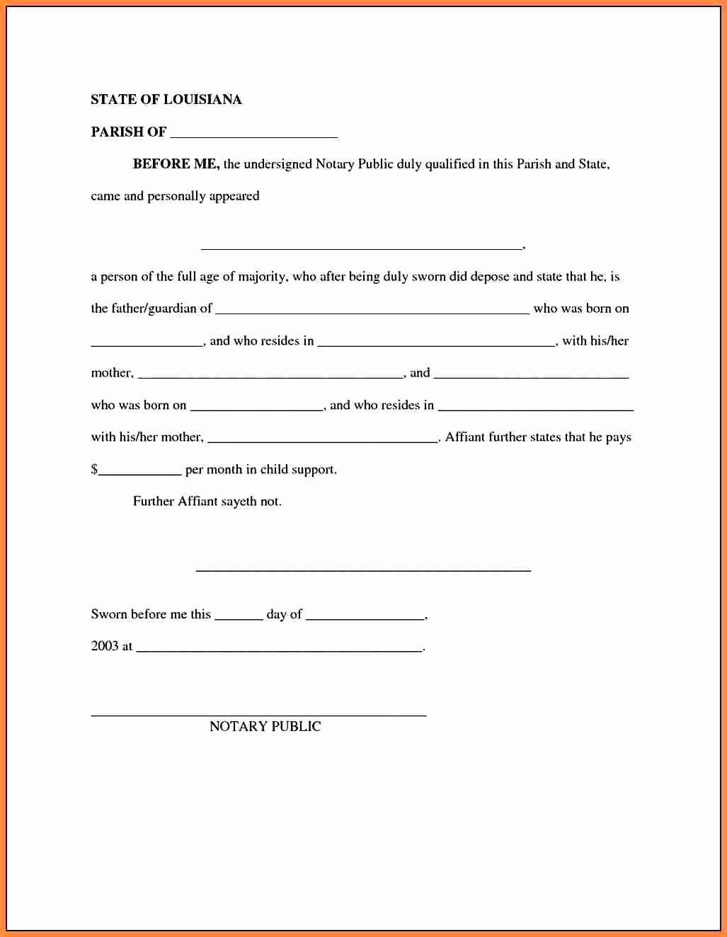 It Support Contract Template Lovely 30 Child Support Agreement Template