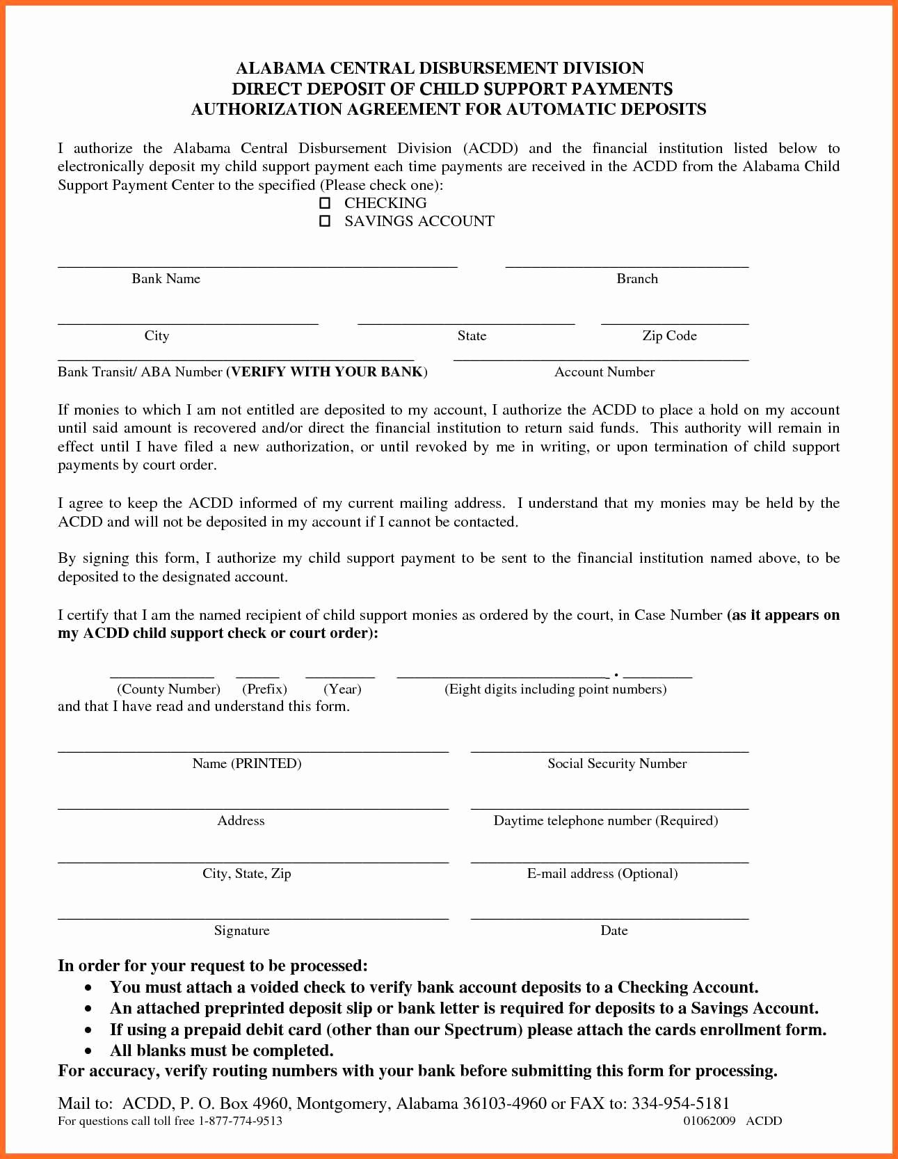 It Support Contract Template Lovely Child Support Agreement Contract