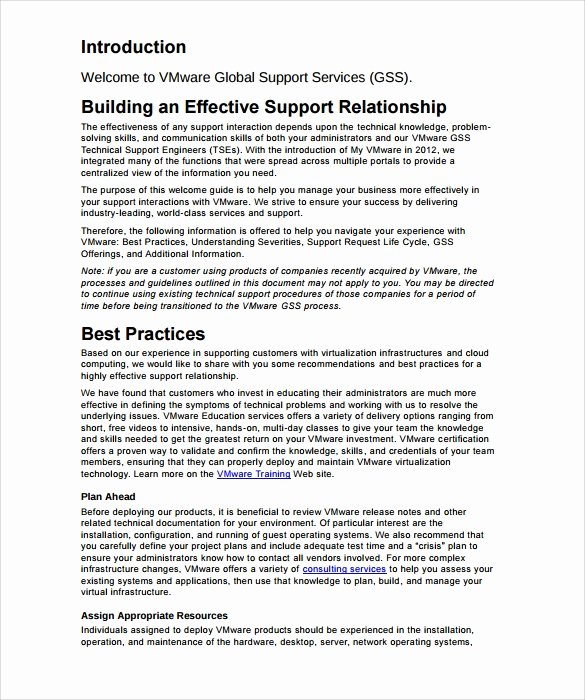 It Support Contract Template New 10 It Support Contract Templates to Download for Free