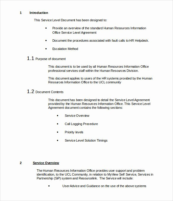 It Support Contract Template Unique It Support Contract Template 9 Download Documents In