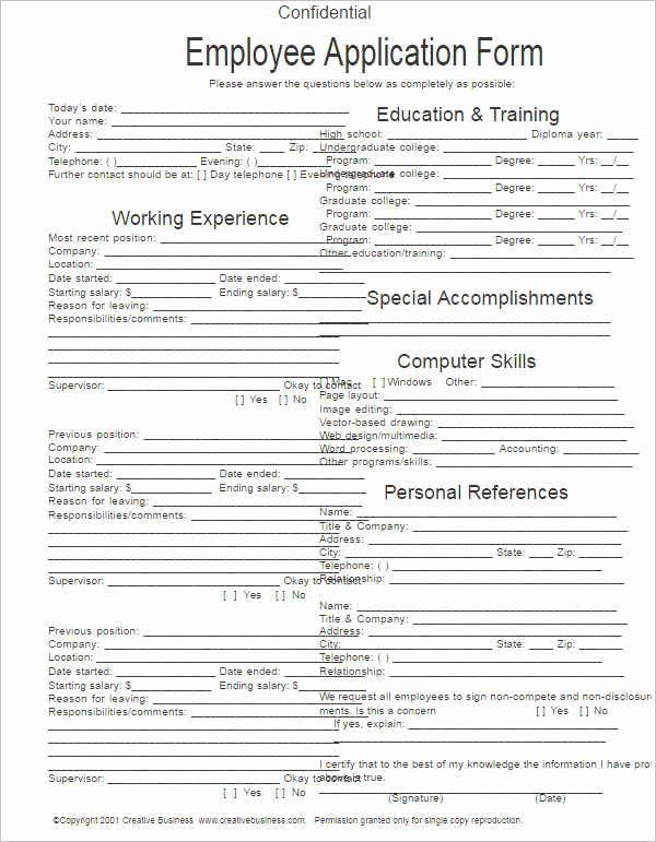 Job Application Template Microsoft Word New 5 Free Blank Employment Application Template Printable