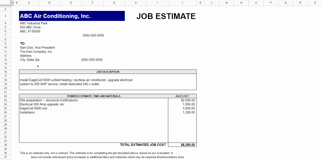 Job Estimate Template Pdf Awesome Every Free Estimate Template You Need the 14 Best