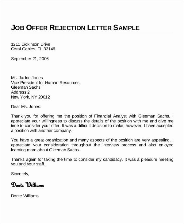 Job Offer Template Word Awesome Sample Thank You Letters 60 Free Word Pdf Documents