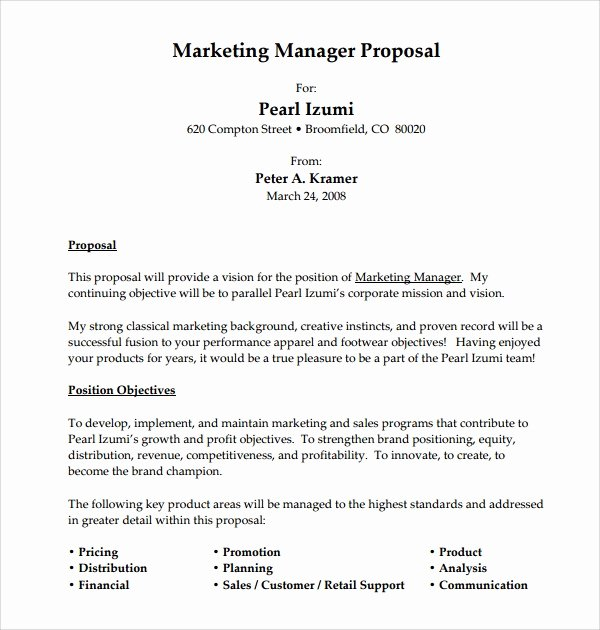 Job Position Proposal Template Beautiful Sample Job Proposal Template – 12 Free Documents Download