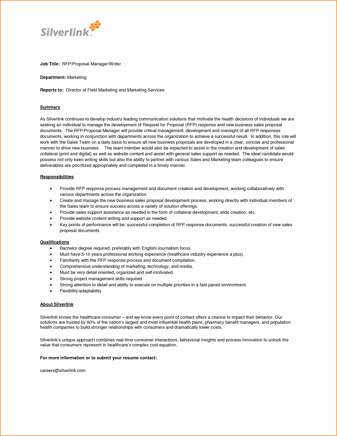 Job Position Proposal Template Lovely 4 Job Proposal Sample