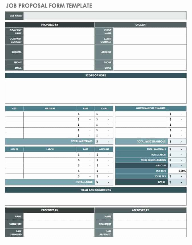 Job Position Proposal Template Luxury Free Job Proposal Templates