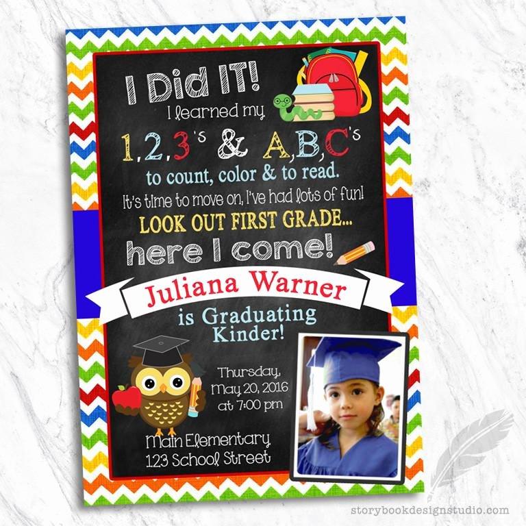 Kindergarten Graduation Program Templates Awesome Pre K or Kindergarten Graduation Invitation – Storybook