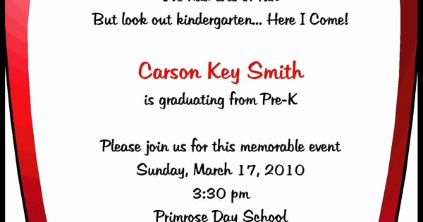 Kindergarten Graduation Program Templates Awesome Preschool Invitations Templates